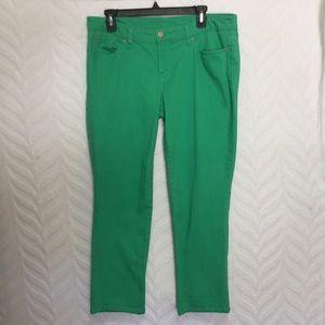 Gap Jeans Skinny Crop Green Size 10/30